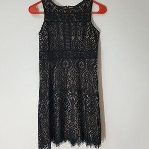 Ann Taylor Loft Petite Black Lace Dress 00P